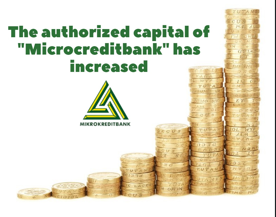 The authorized capital of Microcreditbank has increased